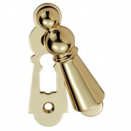 Large Covered Escutcheon Polished Brass