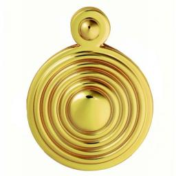 Queen Anne Covered Escutcheon Polished Brass