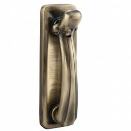 Door Knocker on Backplate Florentine Bronze