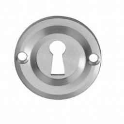 Small Escutcheon Satin Chrome
