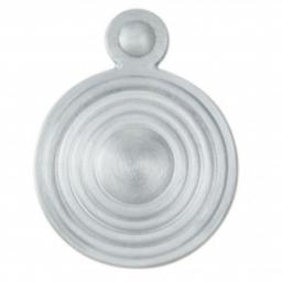 Queen Anne Covered Escutcheon Satin Chrome