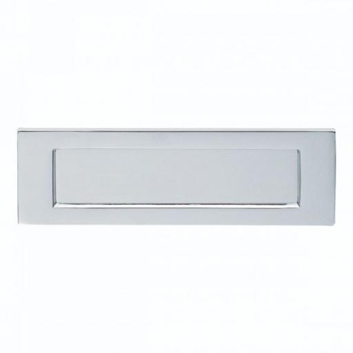 Plain Letter Plate Satin Chrome