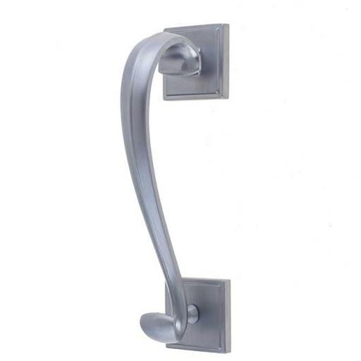 Sloane Door Knocker on Square Rose Satin Chrome