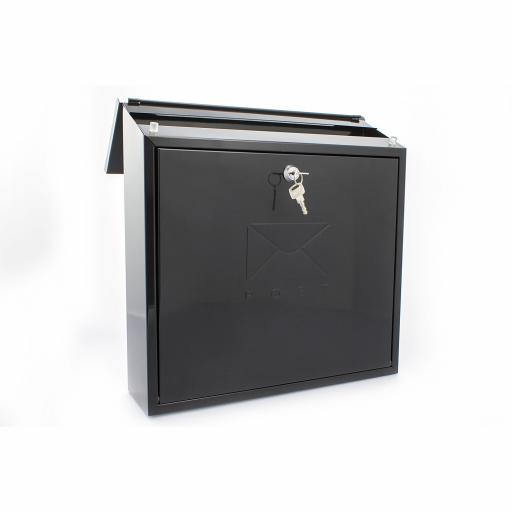 Contemporary Post Box Black