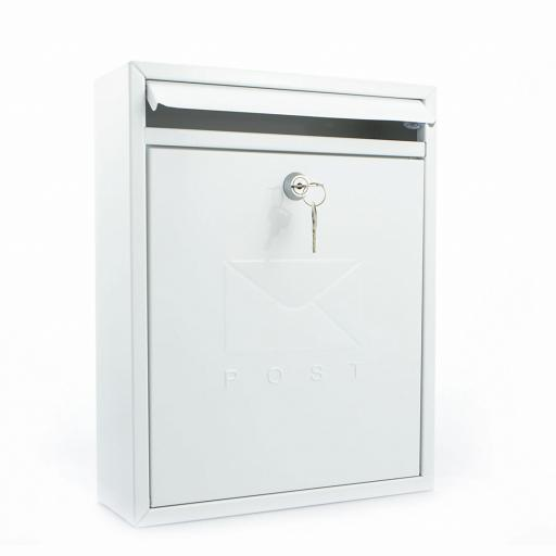 Compact Post Box White