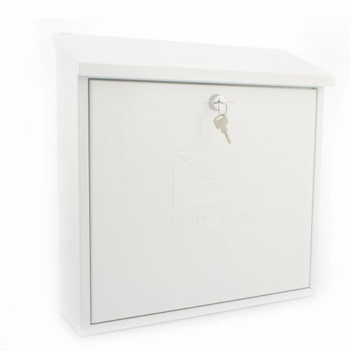Contemporary Post Box White