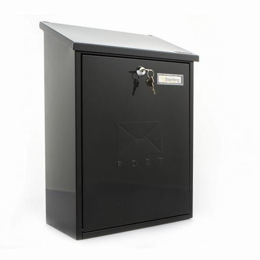 Grand Post Box Black