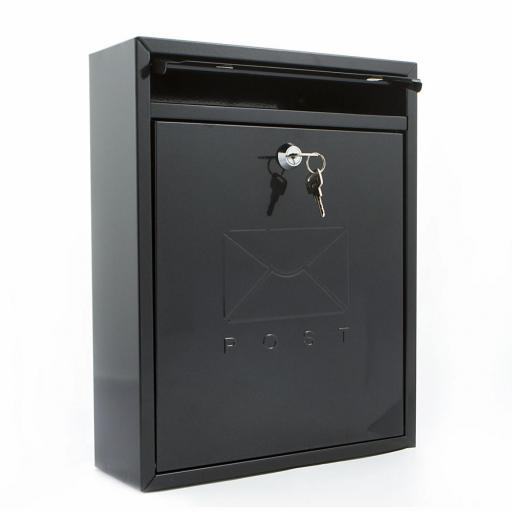 Compact Post Box Black