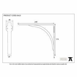 Natural Smooth Curved Shelf Bracket Dimensions.jpg