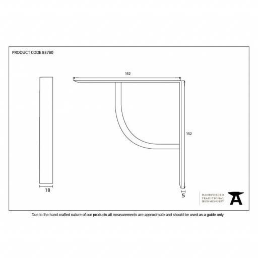 Black Plain Shelf Bracket Dimensions.jpg