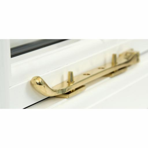 Polished Brass Peardrop Stay