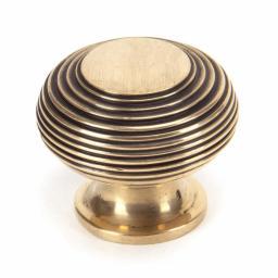 Polished Bronze Beehive Cabinet Knob Large.jpg