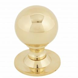 Polished Brass Ball Cabinet Knob Large.jpg