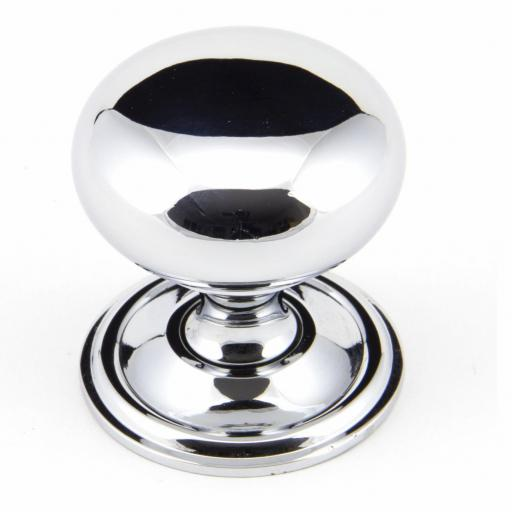 Polished Chrome Mushroom Cabinet Knob