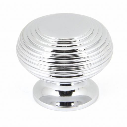 Polished Chrome Beehive Cabinet Knob