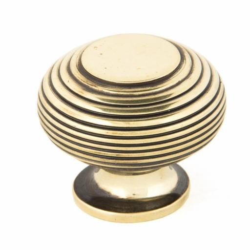 Aged Brass Beehive Cabinet Knob