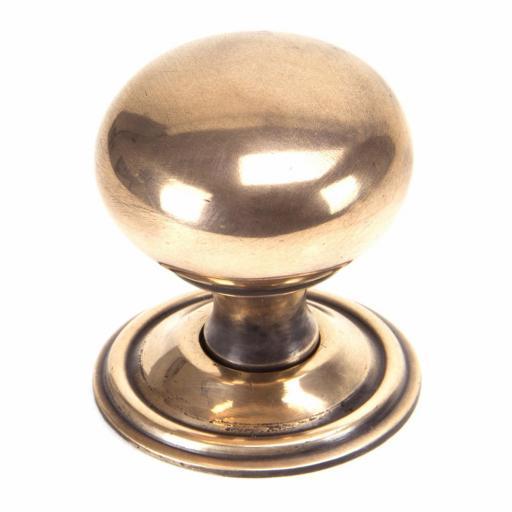 Polished Bronze Mushroom Cabinet Knob