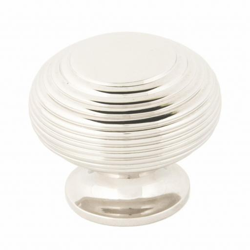 Polished Nickel Beehive Cabinet Knob