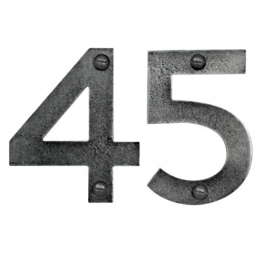 Genuine Pewter 75mm (3inch) Door Number