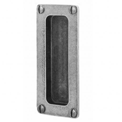 Pewter Pocket Door Flush Pull (Front Fix)