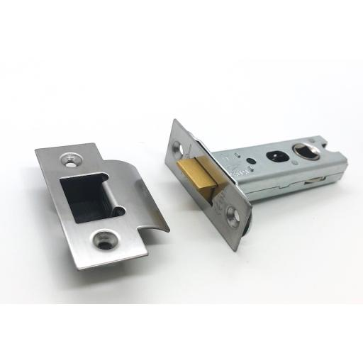 High Quality Tubular Latch 76mm Satin Stainless Steel