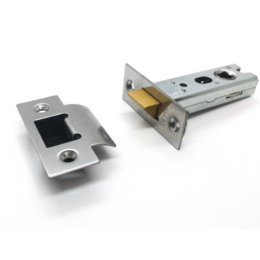 High Quality Tubular Latch 76mm Polished Stainless Steel