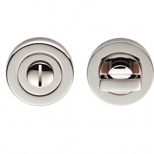 Turn and Release Lock - Polished Nickel