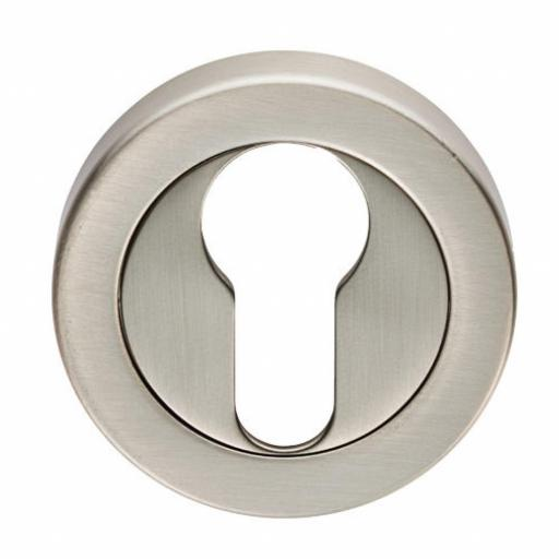 Euro Escutcheon Satin Nickel