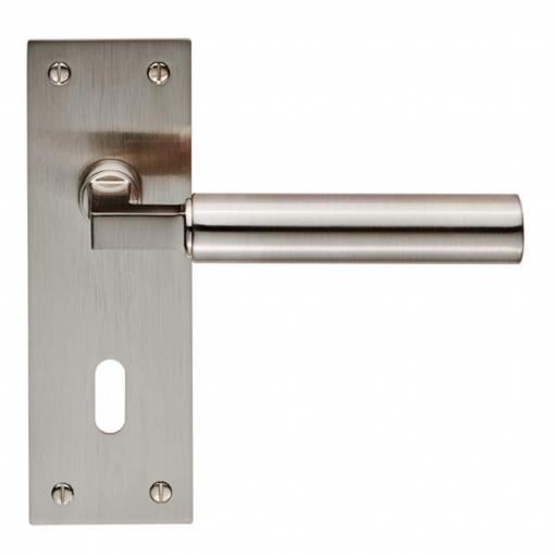 Amiata Lever on backplate - Satin Nickel