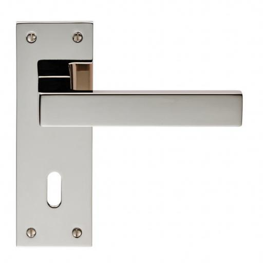 Sasso - Lever on Backplate Polished Nickel