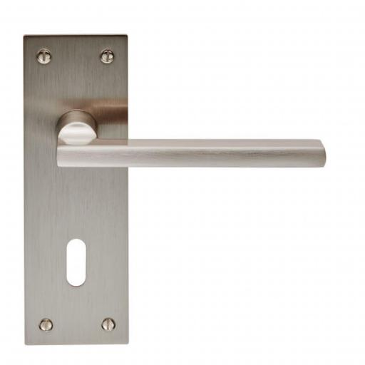 Trentino - Lever on Backplate - Satin Nickel