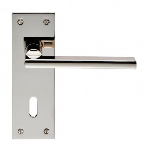 Trentino - Lever on Backplate - Polished Nickel