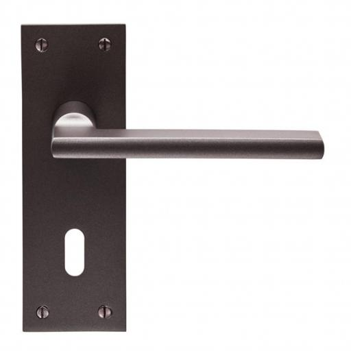 Trentino - Lever on Backplate - Matt Bronze